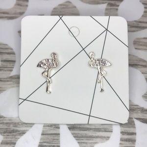 Jewelry - Gold flamingo Earring Studs - NWT